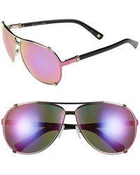 Dior Women'S 'Chicago' 63Mm Metal Aviator Sunglasses - Light Gold Metal - Lyst