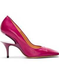 Maison Margiela Fuchsia Cut_Out Heel Pumps - Lyst