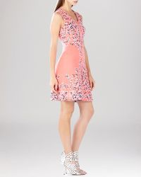 BCBGMAXAZRIA Dress - Wilma Embroidered Floral Garden Jacquard A-Line - Lyst