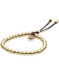 Michael Kors Goldtone Beaded Bracelet - Lyst