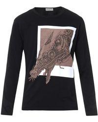 Yohji Yamamoto Pigmentprint Longsleeved Tshirt - Lyst