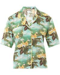 Emma Cook - Hawaiian Swan-Print Shirt - Lyst