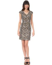 Kay Unger Piped Animal Print Dress - Lyst