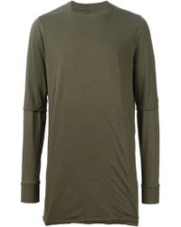 DRKSHDW by Rick Owens Layered Long Sleeve T-shirt - Lyst