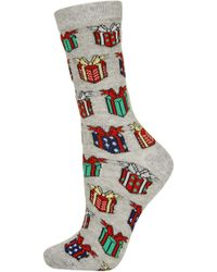 Topshop Christmas Presents Ankle Socks - Lyst