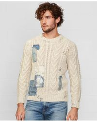 Denim & Supply Ralph Lauren Repaired Cable-Knit Sweater - Lyst