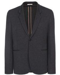 Paul Smith Charcoal Grey Wool Jersey Blazer - Lyst