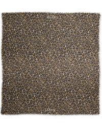 Lanvin Leopard-print Stole - Lyst