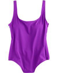 J.Crew Italian Matte Side-Zip One-Piece Swimsuit - Lyst