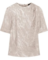 Isabel Marant Yoni Moire Top - Lyst