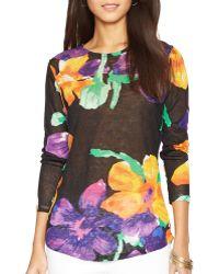 Ralph Lauren Lauren Floral Print Linen Shirt - Lyst