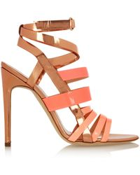 Antonio Berardi Rupert Sanderson Tallyho Metallic Leather Sandals - Lyst