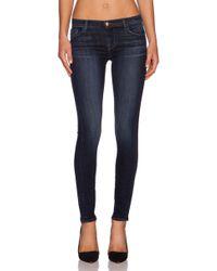 J Brand 811 Skinny Mid-Rise Stretch-Denim Jeans - Lyst