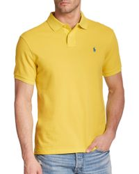 Polo Ralph Lauren Slim-Fit Mesh Polo yellow - Lyst