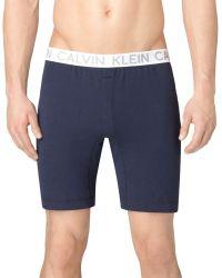 Calvin Klein Superior Cotton Sleep Short - Lyst