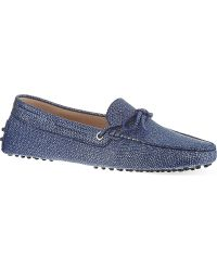 Tod's Gommino Driving Shoes in Leather Blue - Lyst