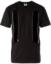 Comme Des Garçons Zipped Front Openings T-shirt - Lyst