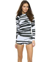 Cynthia Rowley Shark Deterrent Wetsuit - Black/White black - Lyst