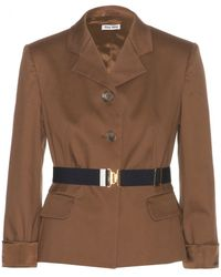 Miu Miu Cotton Jacket - Lyst