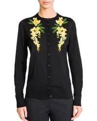 Dolce & Gabbana Mimosa Embroidered Cardigan - Lyst