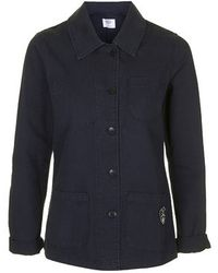 Topshop Navy Fisherman'S Jacket By Armor Lux - Lyst
