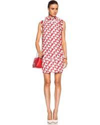 Giambattista Valli Jasmine Print Cotton-Blend Macrame Ruffle Dress - Lyst