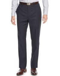Calvin Klein Navy Striped Slimfit Suit - Lyst