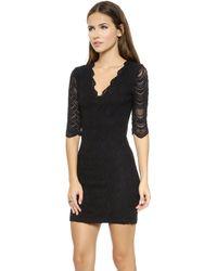 Nightcap Deep V Victorian Dress  Black - Lyst