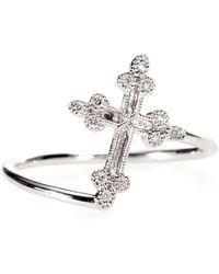 Stone Paris - Devotion 18kt White Gold Ring With White Diamonds - Lyst