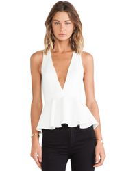 Lovers + Friends White Bloom Blouse - Lyst