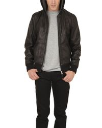 Rag & Bone Christopher Leather Jacket With Hood - Lyst