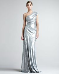 Donna Karan New York Sequined Oneshoulder Gown - Lyst