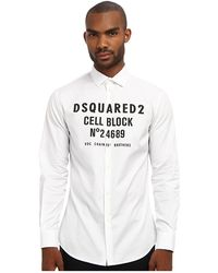 DSquared2 Runway Cell Block Button Up - Lyst