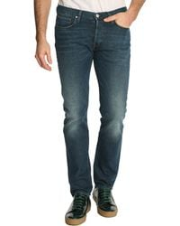 Paul Smith Washed Denim Tapered Jeans - Lyst