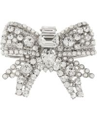 Miu Miu Palladiumplated Crystal Brooch - Metallic