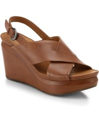 Gentle Souls Jane Leather Wedge Sandals - Lyst