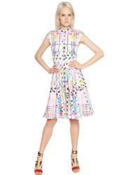 Peter Pilotto Printed Silk Jacquard Shirt Dress - Lyst