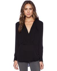 Theory Corbette Silk Blouse - Lyst