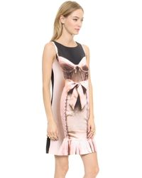 Moschino Cheap and Chic Sleeveless Dress  Multi - Lyst
