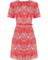 Oasis Falling Blossom Dress - Lyst