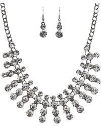 Akira Black Label | Moon Silver Necklace & Earring Set | Lyst