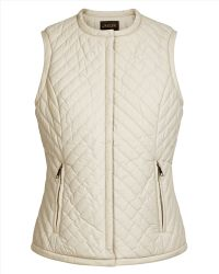 Jaeger Chevron Quilted Gilet - Lyst