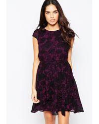 Madam Rage - Floral Printed Skater Dress - Lyst