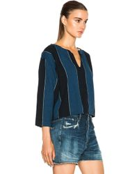 Citizens of Humanity Edie Top blue - Lyst