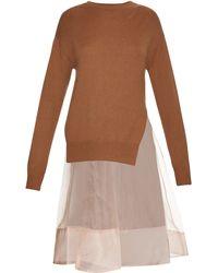 MUVEIL - Knit And Silk Dress - Lyst
