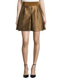 Philosophy di Alberta Ferretti Lizard Jacquard Pleated Skirt - Lyst
