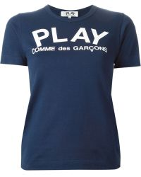 Comme Des Garçons Logo Print T-Shirt - Lyst