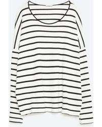 Zara | Striped T-shirt | Lyst