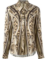 Roberto Cavalli Mix Pattern Shirt - Lyst