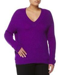 Stella McCartney Cashmere-Blend V-Neck Sweater - Lyst